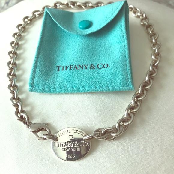 "Tiffany & Co. Jewelry - Authentic silver "" Return to Tiffany"" choker."